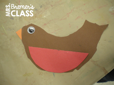 Spring birds in nests art lesson for Kindergarten and First Grade