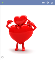 Big and small hearts Facebook emoticons