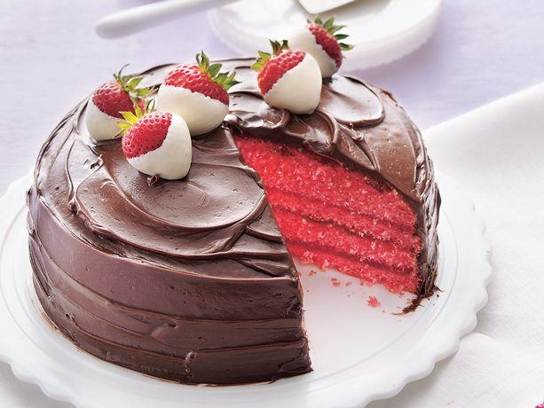 My Favorite Things Chocolate Covered Strawberry Cake