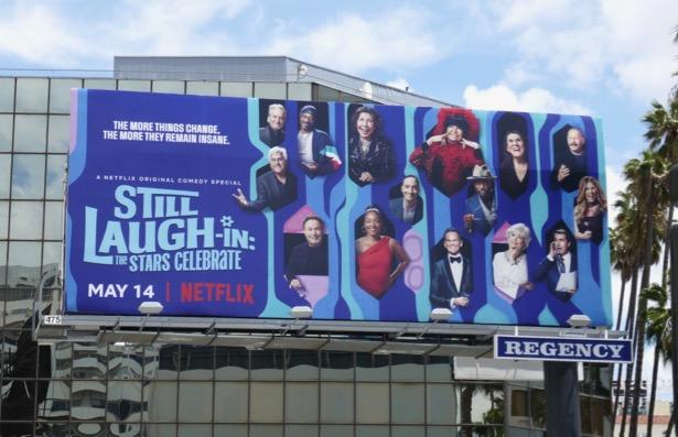 Still Laugh-In Stars Celebrate billboard