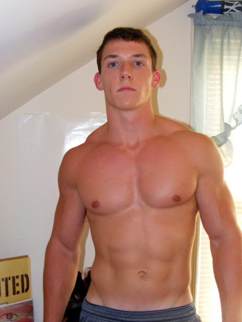 Muscle Jocks Shirtless College Hunk-8190