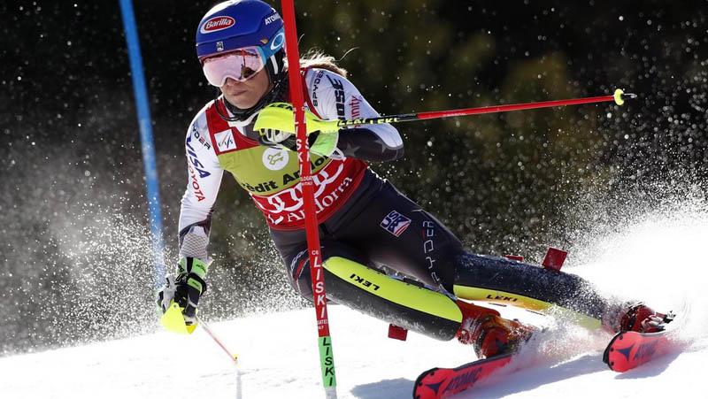 Mikaela Shiffrinová slalom  - Andorra