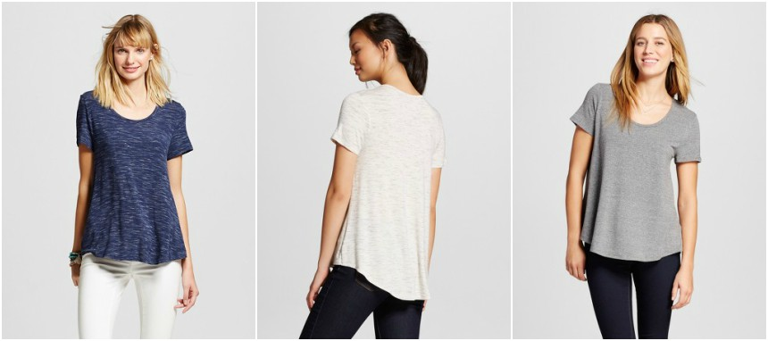 Merona Softest Scoop Tee $5 (reg $9)