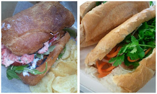Sandwiches from Boston food trucks