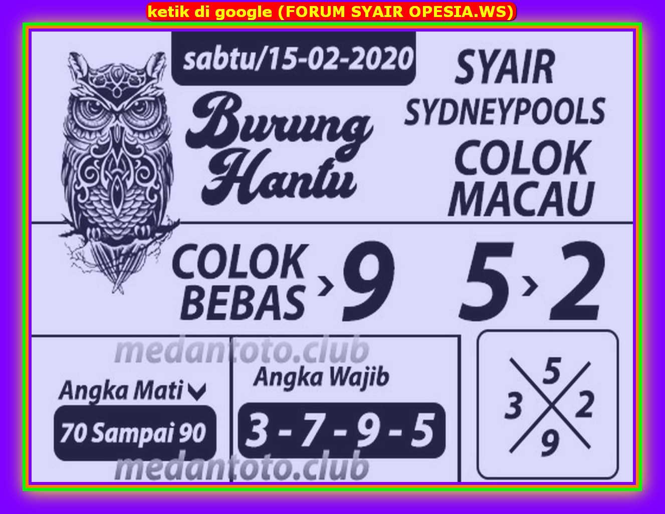 Kode syair Sydney Sabtu 15 Februari 2020 46