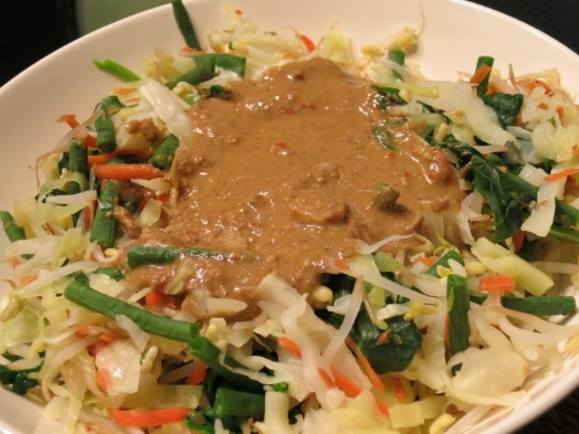 How to make gado gado indonesian food, authentic recipe from Indonesian village