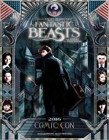 Poster Of Fantastic Beasts and Where to Find Them 2016 English  300MB  720p  HEVC Free Download Watch Online world4ufree.org
