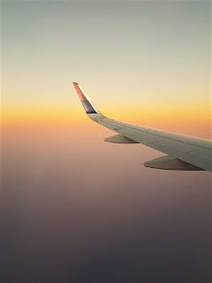 Sunset on a plane