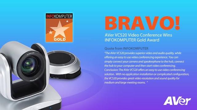 AVer VC520 - giải thưởng vàng
