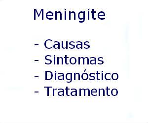 Meningite causas sintomas diagnóstico tratamento prevenção riscos complicações