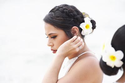 Plumeria in her Hair