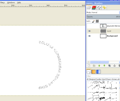 Cara Memutar Teks Melengkung di GIMP1