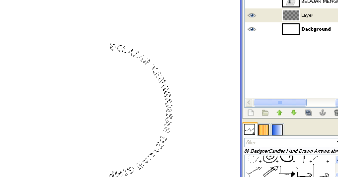 Cara Memutar Teks Melengkung di GIMP | Logo-Logo