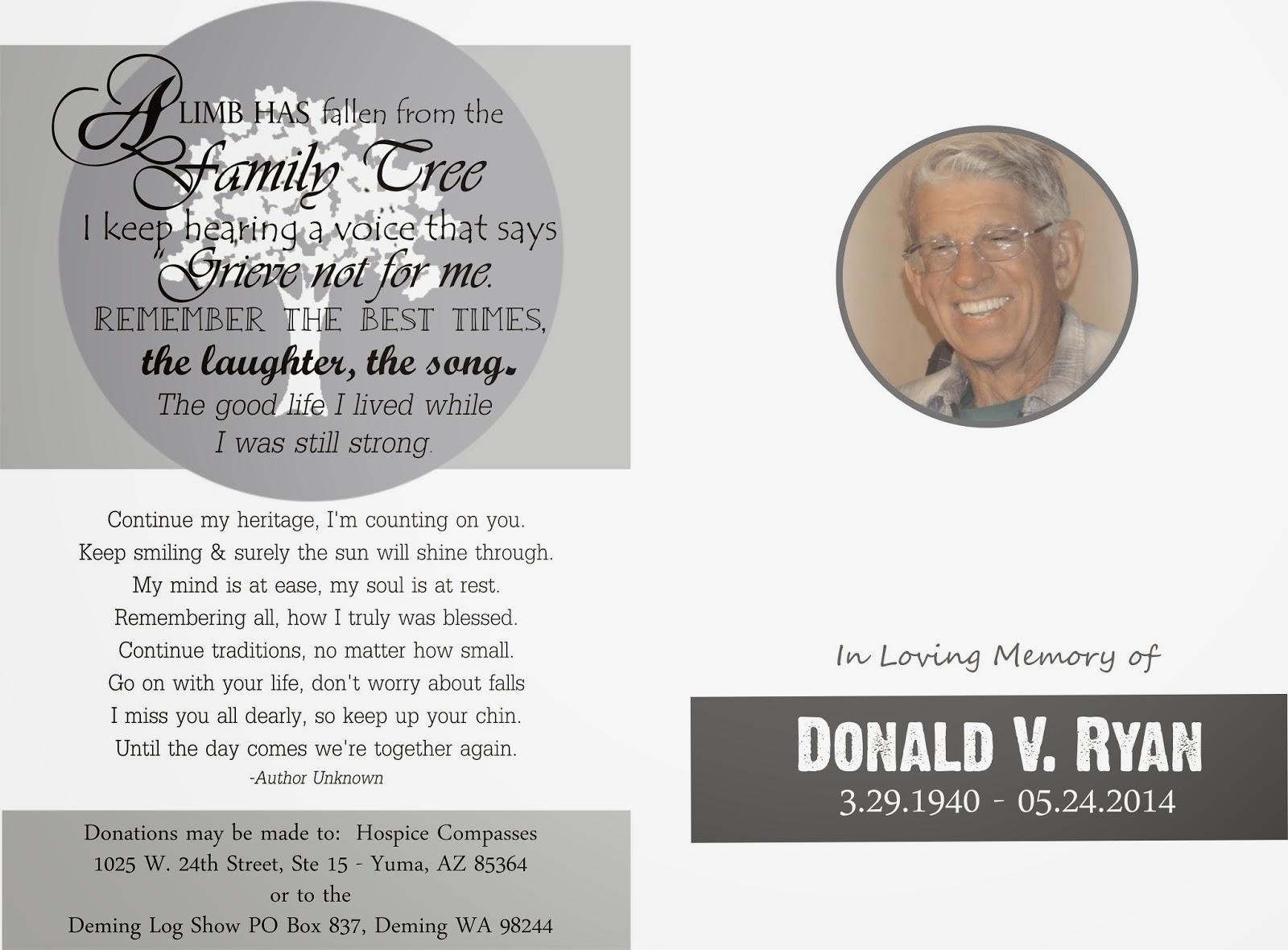 Memorial Service Template Single Fold Funeral Memorial