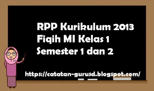 RPP Kurikulum 2013 Fiqih MI Kelas 1 Semester 1 dan 2
