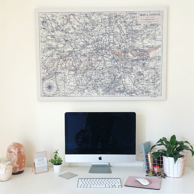 #OfficeInspo! As a freelancer, my office is, literally, in my spare room. Take a peep at how I'm styling my home office.