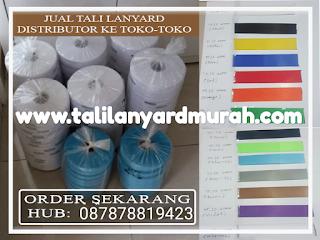 Jual tali ID card sablon & produksi tali lanyard murah Jakarta