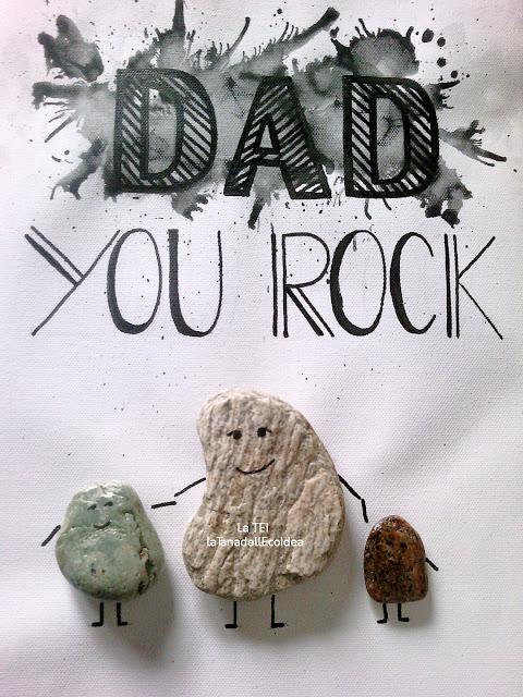 Quadro con sassi per il papà