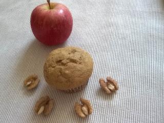 almás diós muffin, almás muffin, zablisztes muffin, muffin zabliszttel, zabliszt, muffin