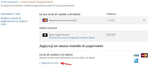 Aggiungi carta Amazon