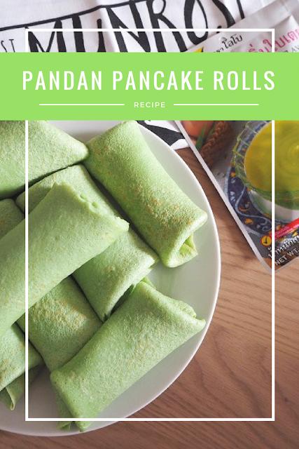 Pandan pancake rolls recipe