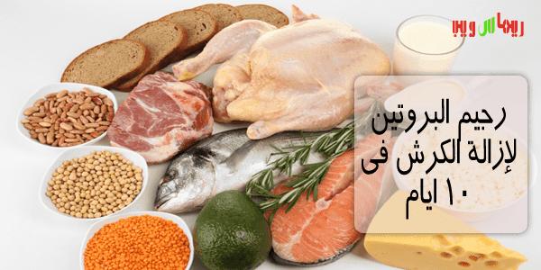 رجيم البروتين , ازالة الكرش و تخسيس البطن فى 10 ايام فقط