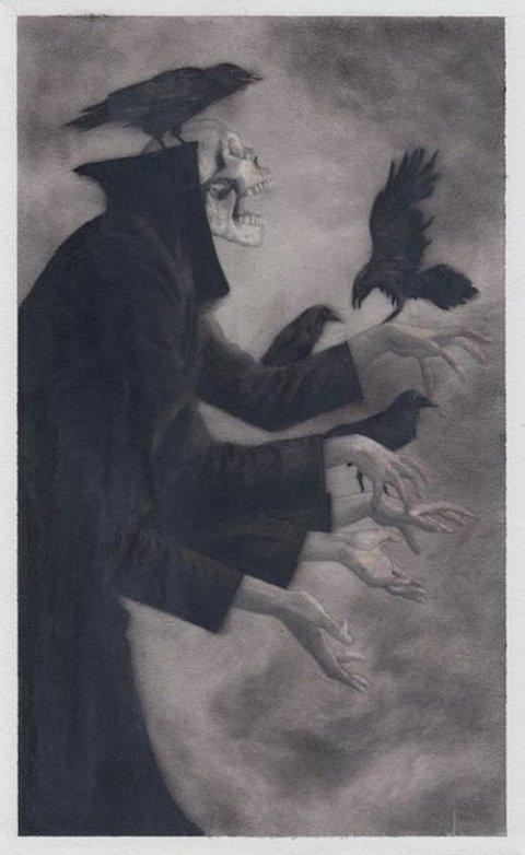 Randy Ortiz instagram arte ilustrações surreais sombrias macabras terror morte