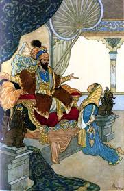 A Sultan in his palace by Dulac