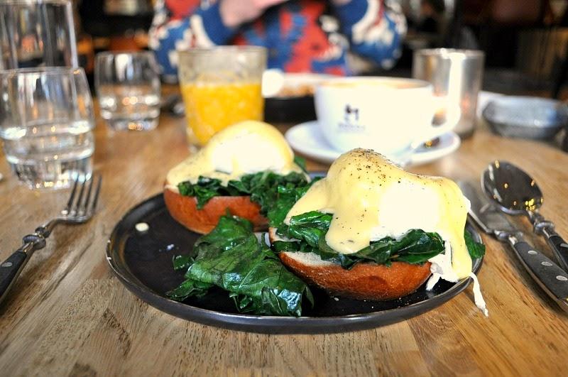 Eggs florentine at Hotel V Nepslein
