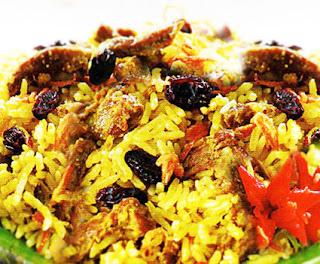 Resep-dan-cara-membuat-Nasi-Kebuli-Daging-Kambing-Khas-Arab-timur-tengah