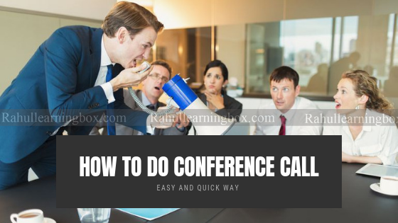 Conference Call in Android  Mobile : How to Do Conference Call