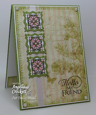 "ODBD ""Cathedral Window Marble"", ""Sentiment Collection 2"", Card designer Angie Crockett"