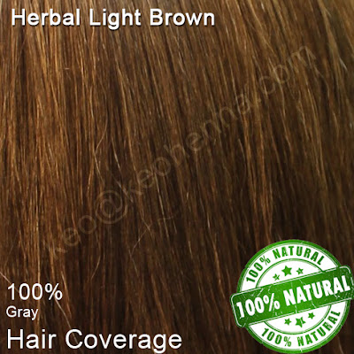 Herbal Light Brown on Grey Hair