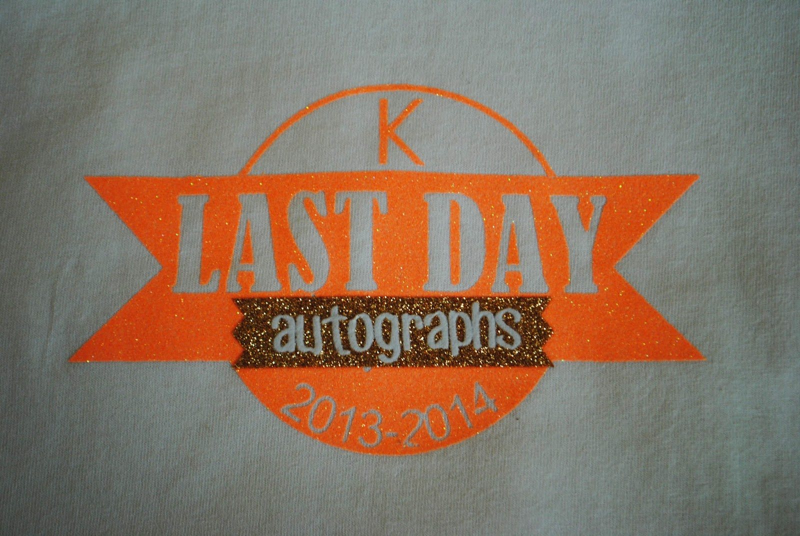 Shirt, autograph, last day of school, free, Silhouette Studio, cut file