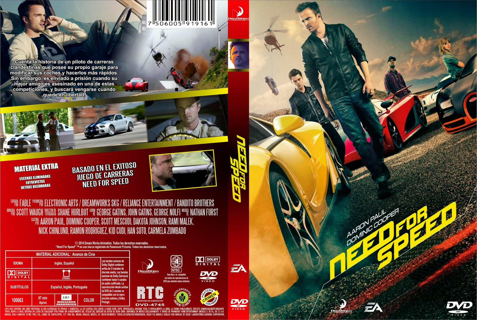PB | DVD Cover / Caratula FREE: NEED FOR SPEED - DVD COVER ...