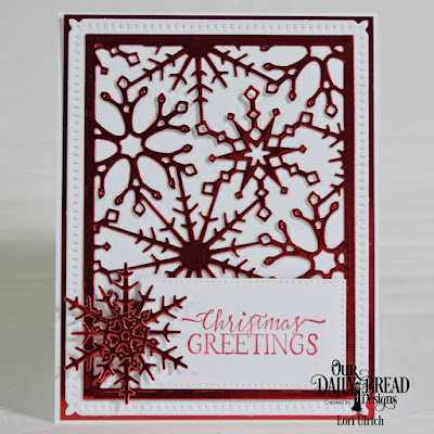 Our Daily Bread Designs Stamp Set: Jingle Bell Time, Our Daily Bread Designs Custom Dies; Snow Crystals, Snowflake Sky, Pierced Rectangles