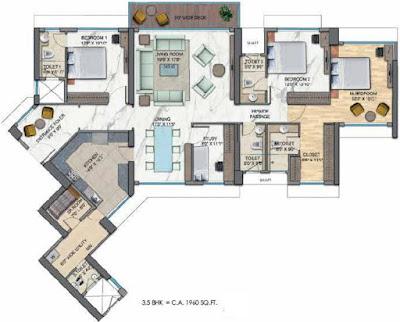 Wadhwa Panvel Floor plan