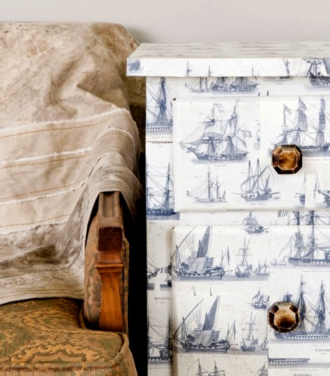 decoupage furniture makeover