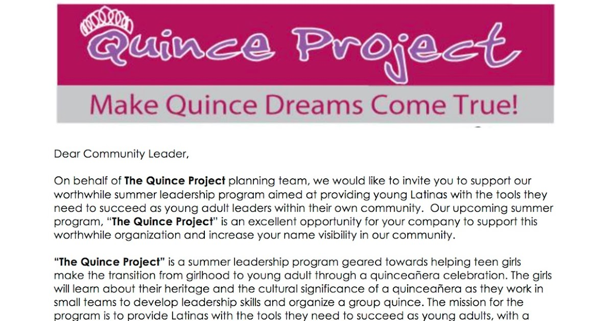 QuinceProject: Donate