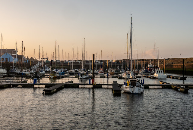 Photo of a sunny start to Saturday at Maryport Marina
