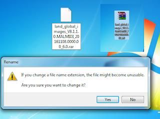 rename menjadi File .rar