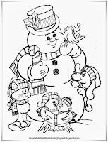 Christmas Snowman Printable Kids Coloring Pages