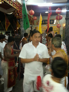 Phuket Vegetarian Festival - blessing at Kathu Shrine