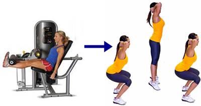 Biserie de extensión de pierna con saltos con sentadilla para mujeres