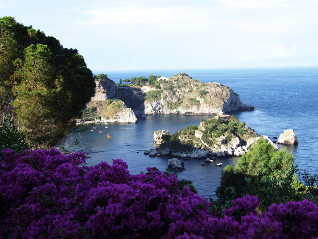 Isola Bella beach, one of the most beautiful beaches in sicily, italy
