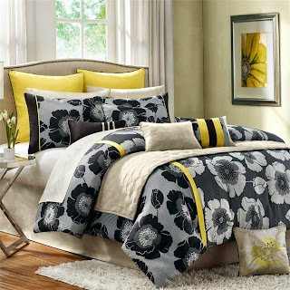 Madison Park Jolee 12 Piece Comforter Set - Yellow - Queen
