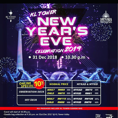 KL TOWER NEW YEAR's EVE CELEBRATION 2019