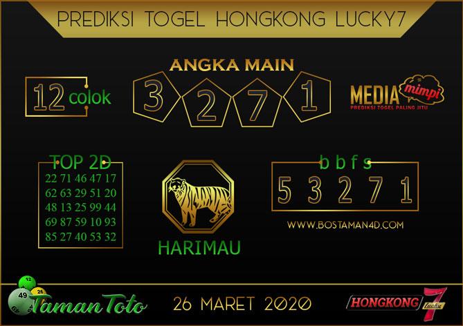 Prediksi Togel HONGKONG LUCKY 7 TAMAN TOTO 26 MARET 2020