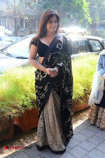 Actress Neetu Chandra Stills in Black Saree at Designer Sandhya Singh's Store Launch  0026.jpg