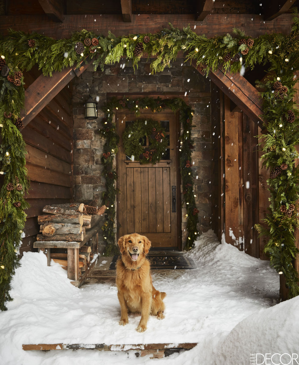 Ken Fulk Montana ski house halfway house yellowstone front door golden retriever turtle in snow